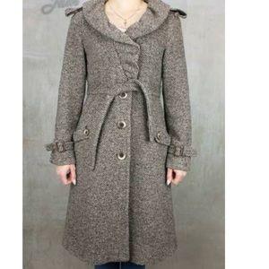 Max Mara Tweed Wool Long OverCoat